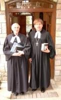 Dr. Fabiny Tamás püspök Lucfalván szolgált