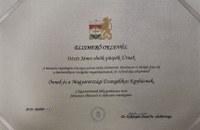 Elismerő oklevelet kapott Ittzés János elnök-püspök és egyházunk a büntetés-végrehajtás országos parancsnokától