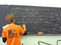 Mennybemenetelről gondolkodtak a KÖSZI önkéntesei a Deák Téri Evangélikus Gimnázium diákjaival