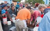Jubileumi ételosztás Krakóban