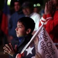 A chilei bányászok istentiszteleten vettek részt a San José-i bányánál