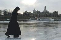A Frauenkirche jégből kifaragva is szimbólum