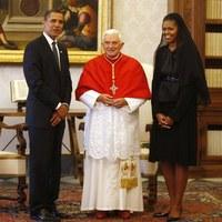 A pápa is fogadta Obamát – Képekkel!