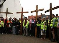Angliai katolikus fiatalok nagyheti zarándoklatra indulnak