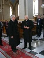 Sólyom László látogatása Német László SVD nagybecskereki püspöknél