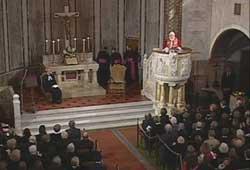 XVI. Benedek ellátogatott a római evangélikus közösség templomába