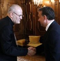 A miniszterelnök hivatalában fogadta Erdő Péter bíborost
