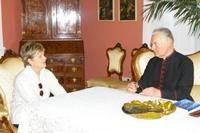 Az Országgyűlés elnöke Mayer Mihály püspöknél járt
