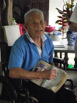 A korábbi leprabeteg, Jamnian Laekwong, ma már komoly belmissziói munkát végez Thaiföldön