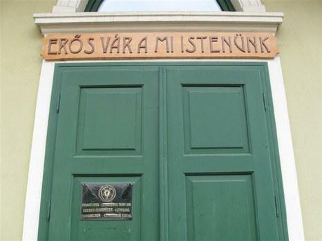 Az evangélikus templom bejárata, Marosvásárhely