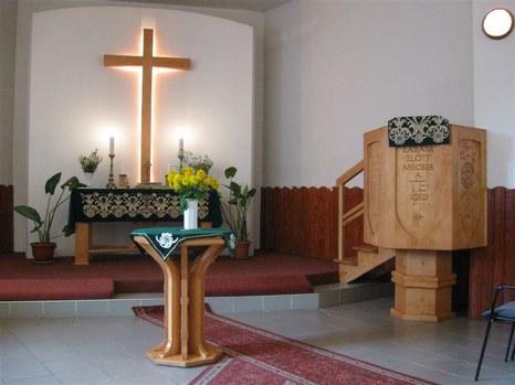 Az evangélikus templom belseje, Marosvásárhely