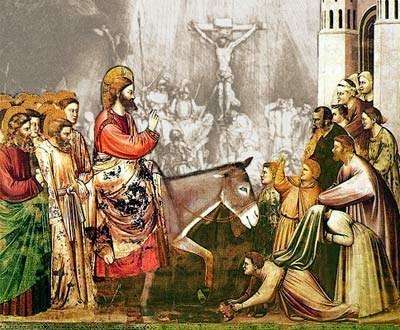 Jézus virágágvasárnapi bevonulása